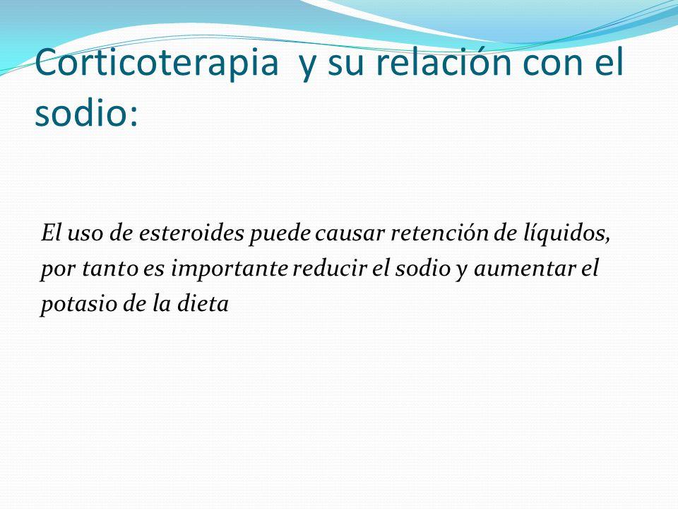 Corticoterapia y su relación con el sodio:
