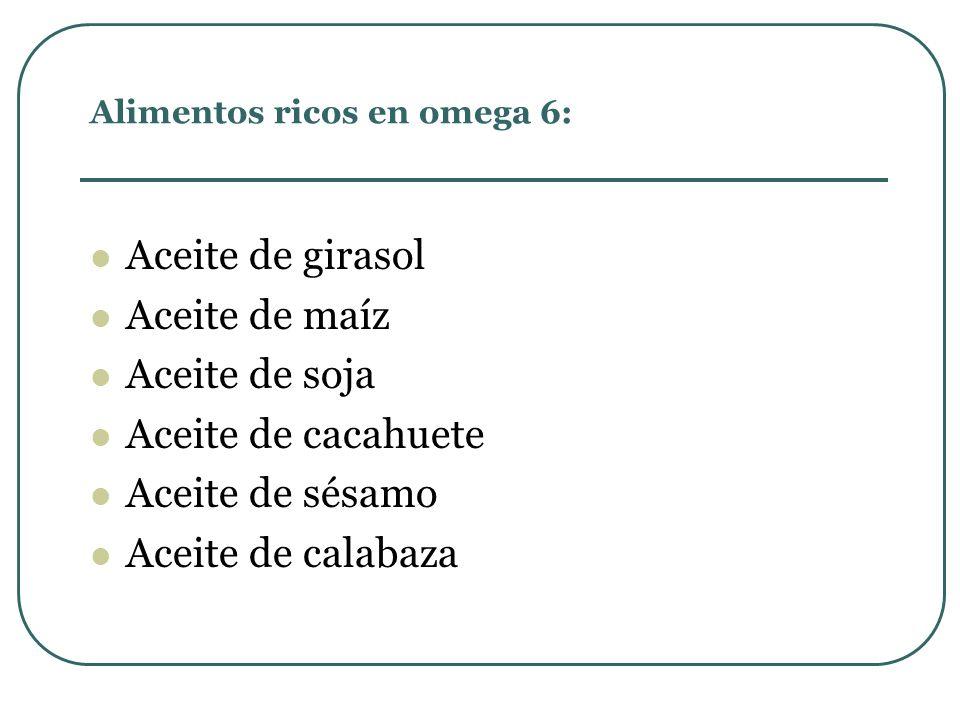 Alimentos ricos en omega 6: