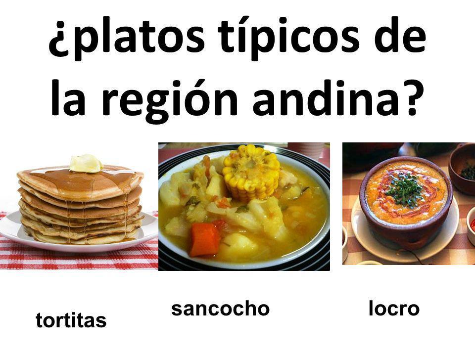 ¿platos típicos de la región andina