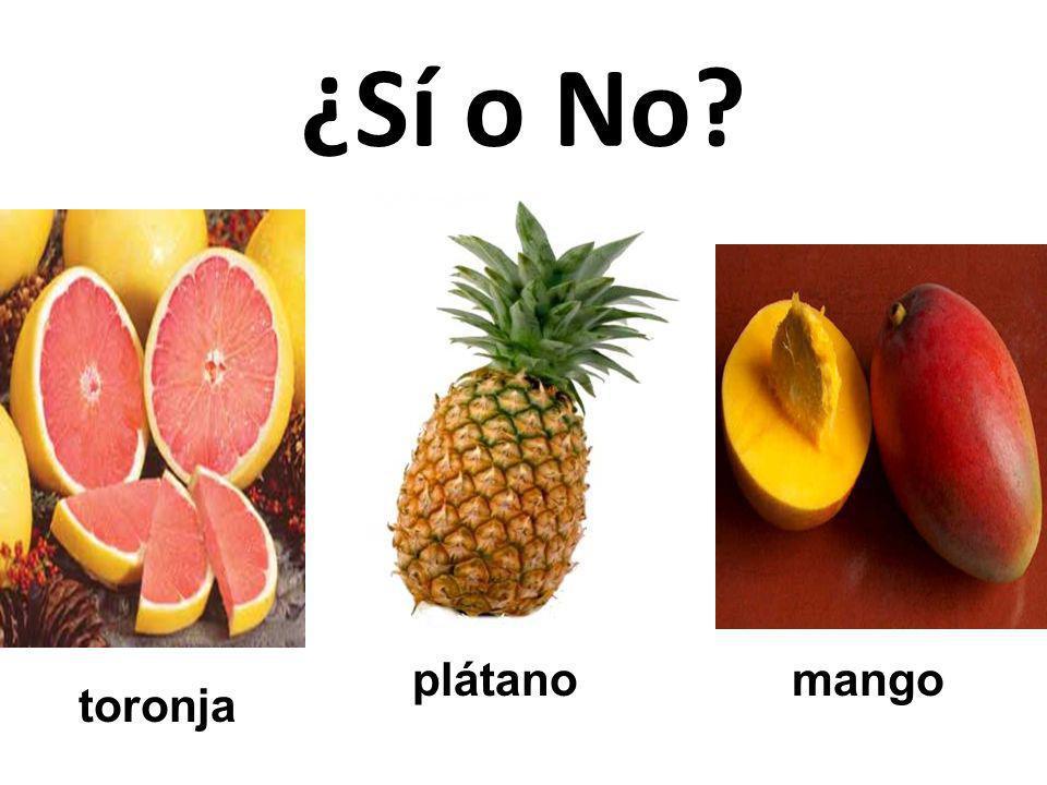 ¿Sí o No plátano mango toronja 43