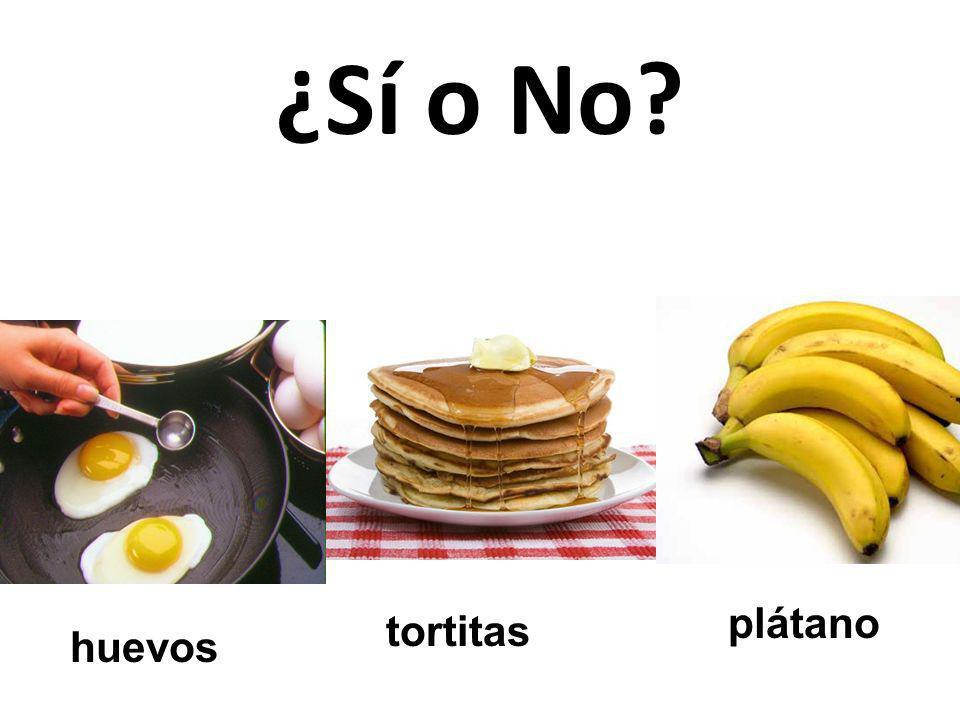 ¿Sí o No plátano tortitas huevos 45