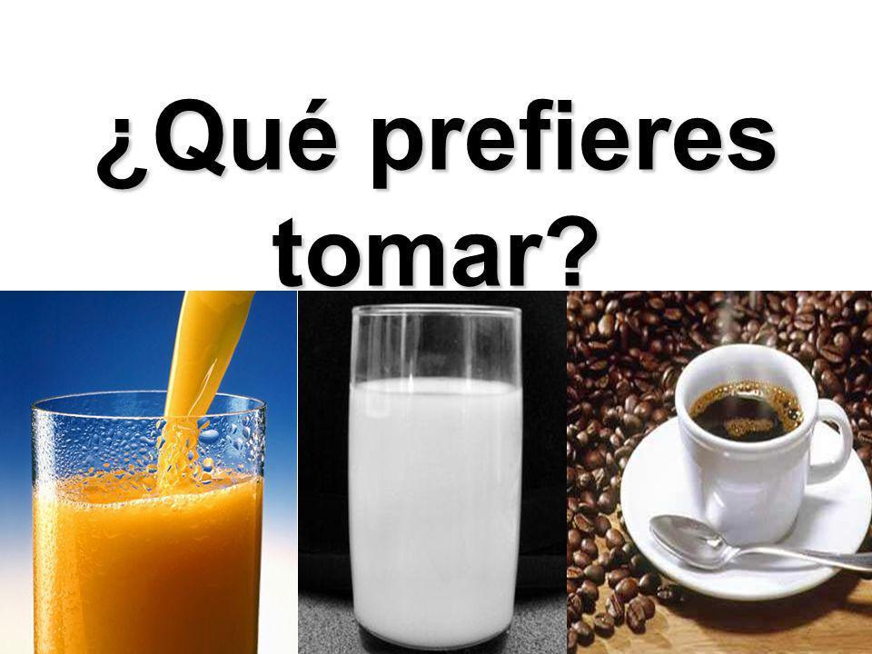 ¿Qué prefieres tomar