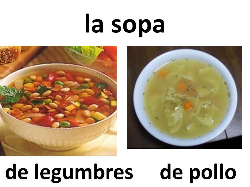la sopa de legumbres de pollo