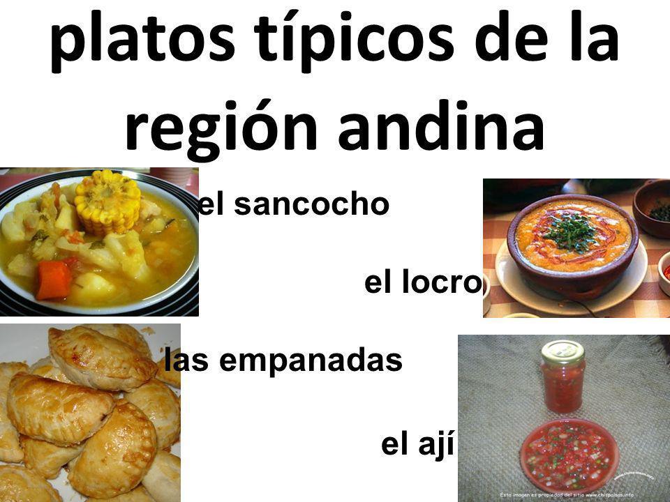 platos típicos de la región andina