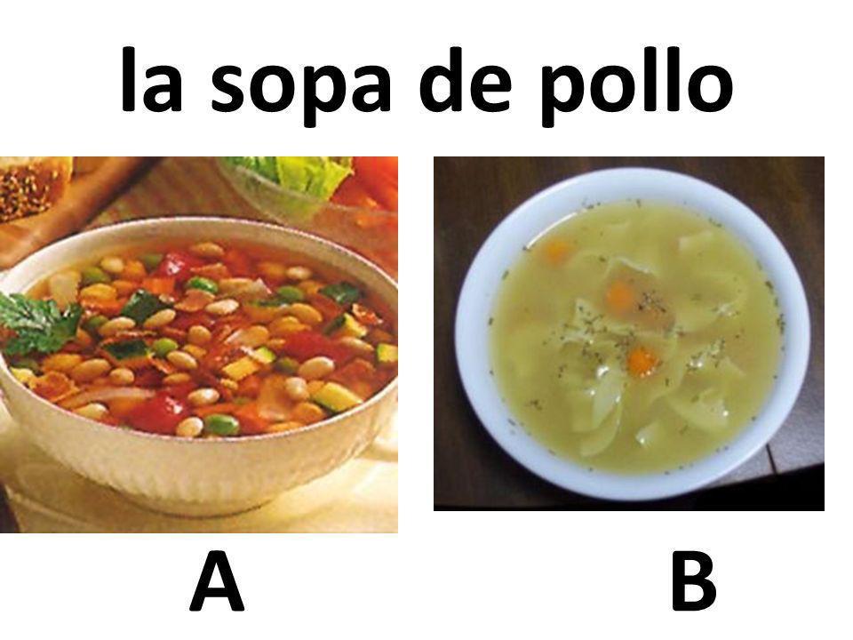 la sopa de pollo A B 70