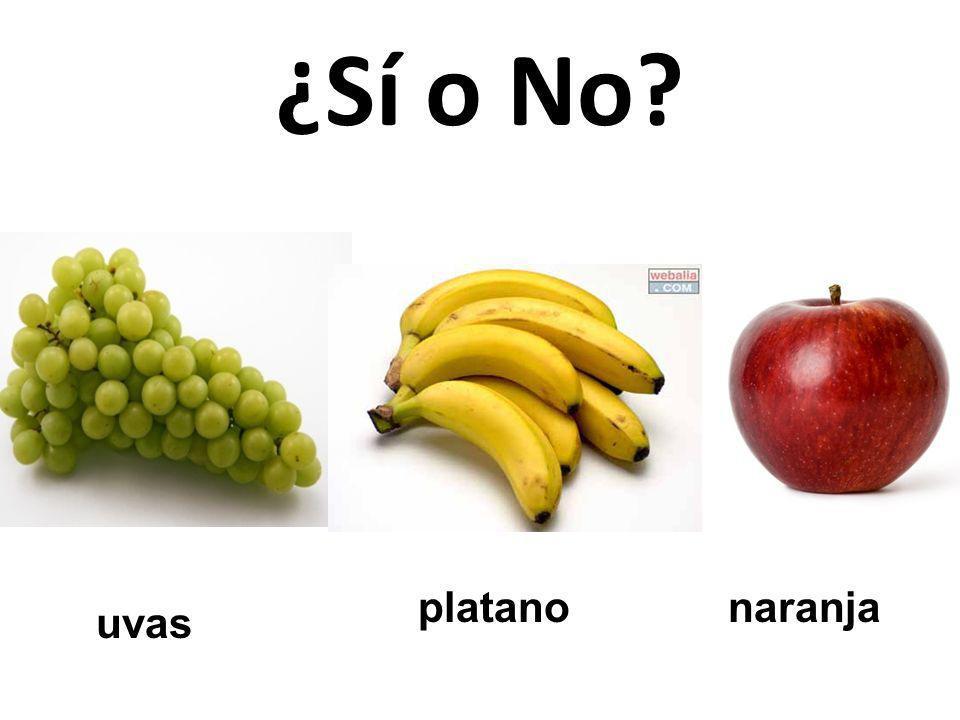 ¿Sí o No platano naranja uvas 77