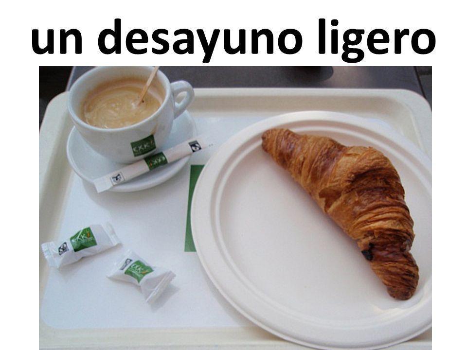 un desayuno ligero