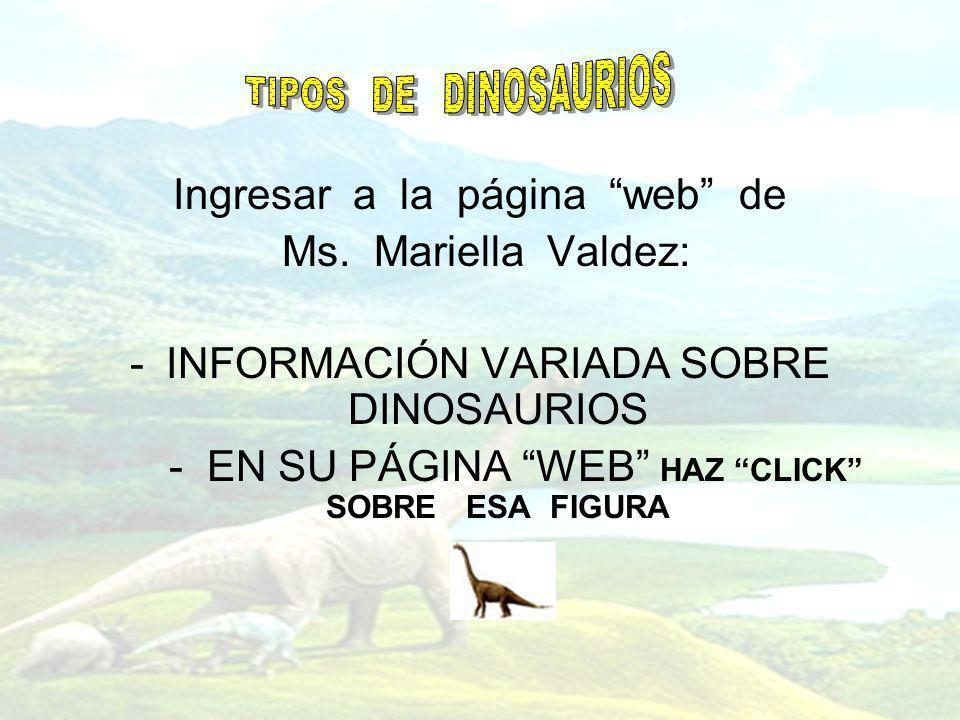 Ingresar a la página web de Ms. Mariella Valdez:
