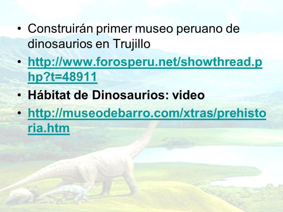 Construirán primer museo peruano de dinosaurios en Trujillo