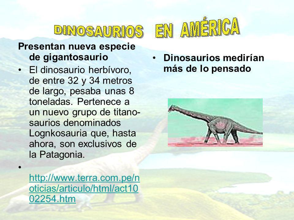 DINOSAURIOS EN AMÉRICA