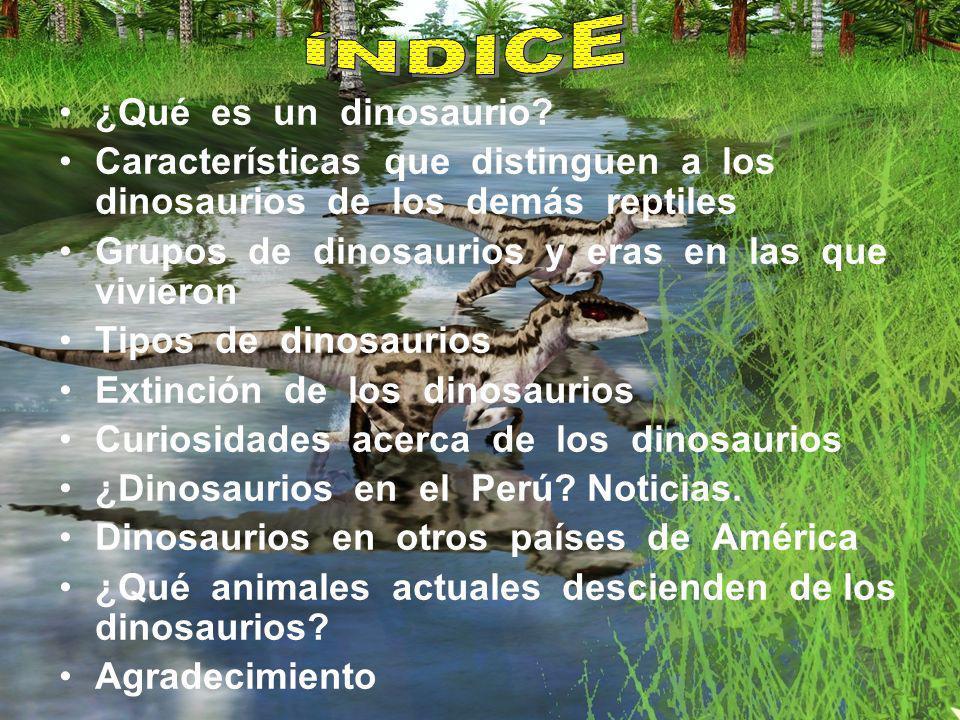Características que distinguen a los dinosaurios de los demás reptiles