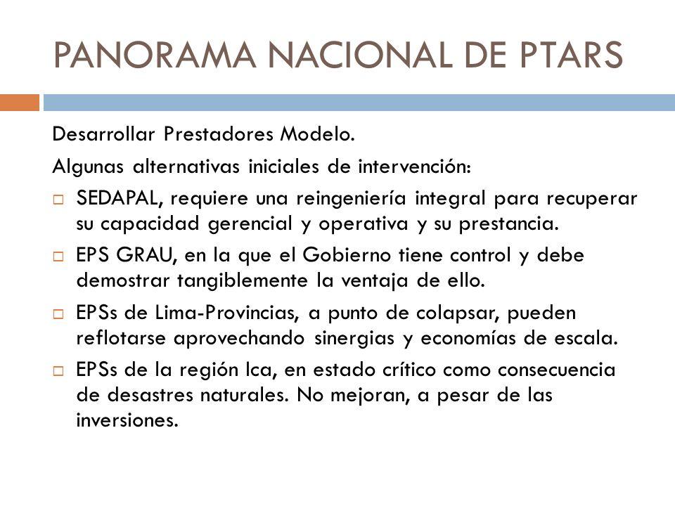 PANORAMA NACIONAL DE PTARS
