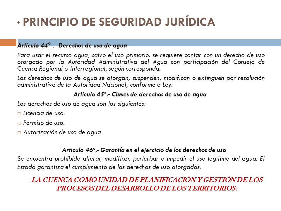 PRINCIPIO DE SEGURIDAD JURÍDICA