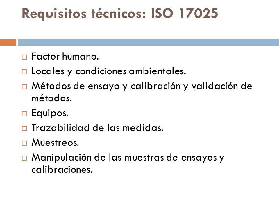 Requisitos técnicos: ISO 17025