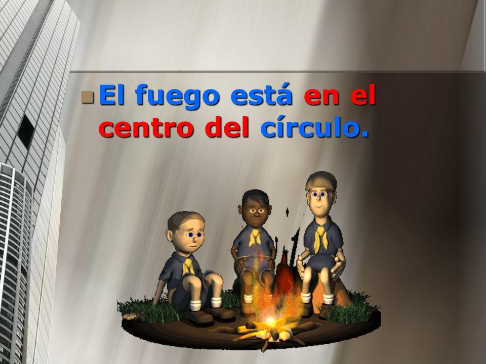 El fuego está en el centro del círculo.