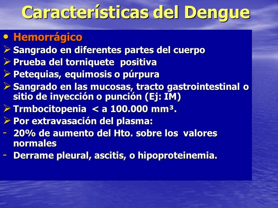 Características del Dengue