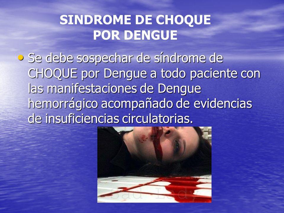 SINDROME DE CHOQUE POR DENGUE