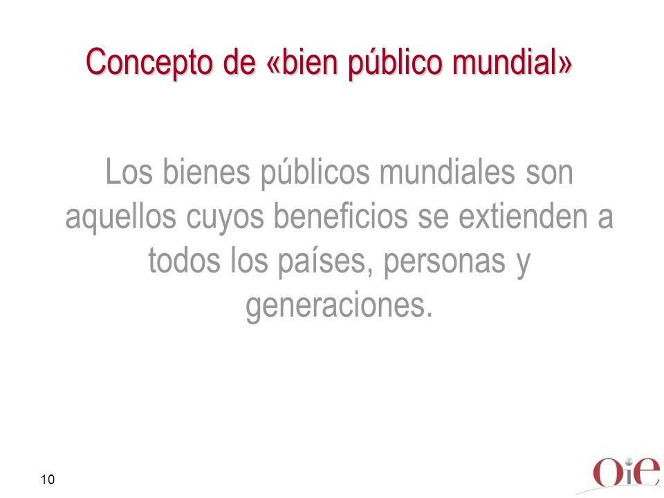 Concepto de «bien público mundial»