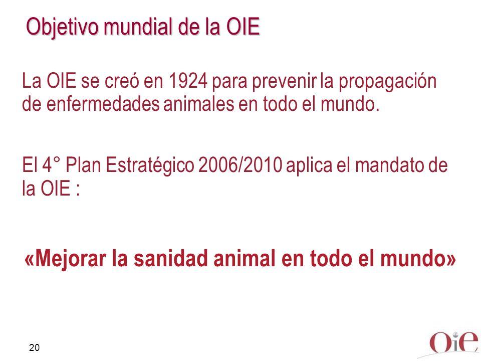 Objetivo mundial de la OIE
