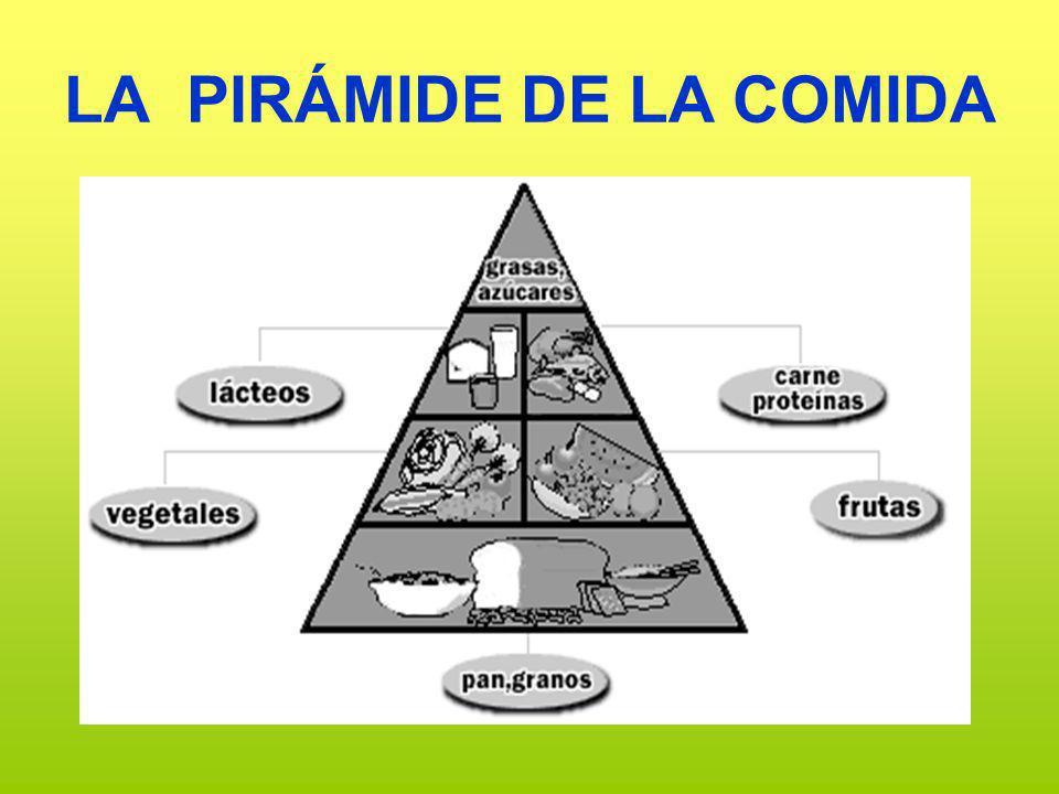 LA PIRÁMIDE DE LA COMIDA