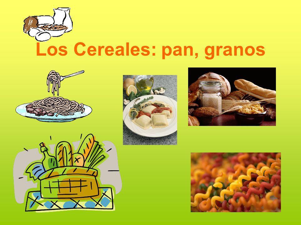 Los Cereales: pan, granos