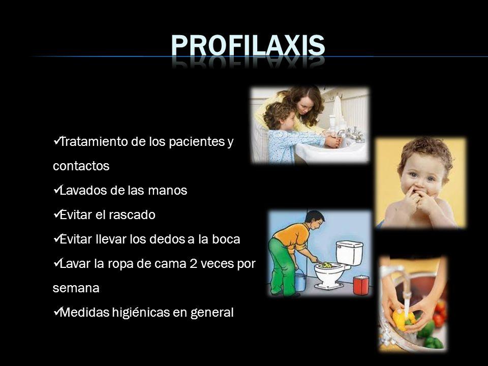 Profilaxis Tratamiento de los pacientes y contactos