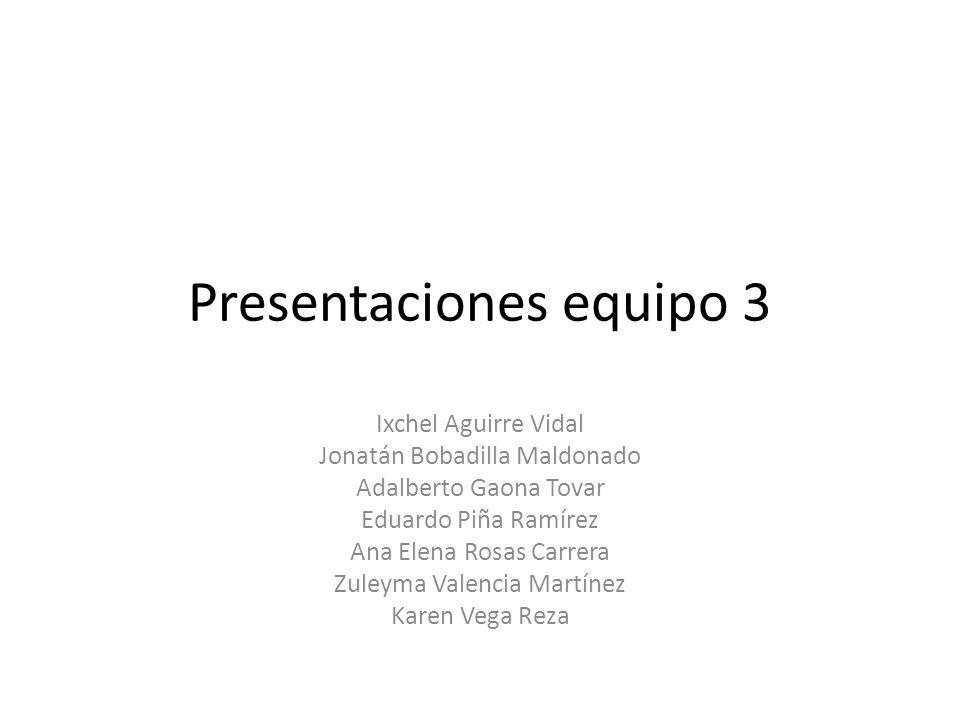 Presentaciones equipo 3