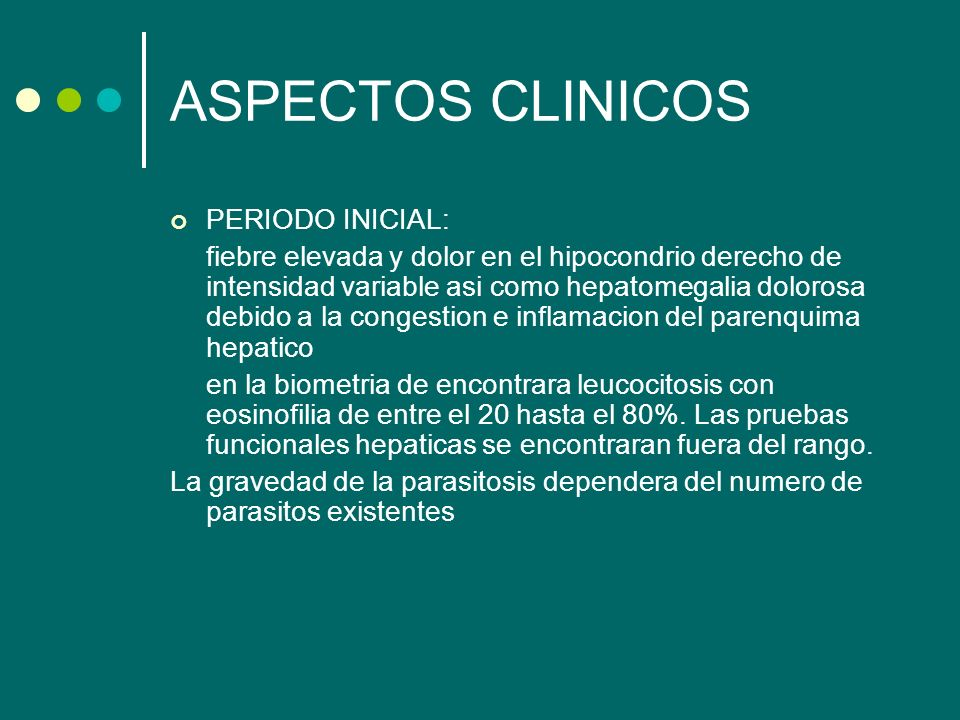 ASPECTOS CLINICOS PERIODO INICIAL: