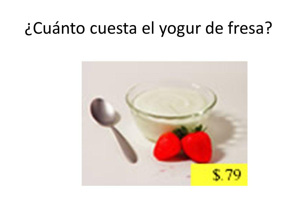 ¿Cuánto cuesta el yogur de fresa