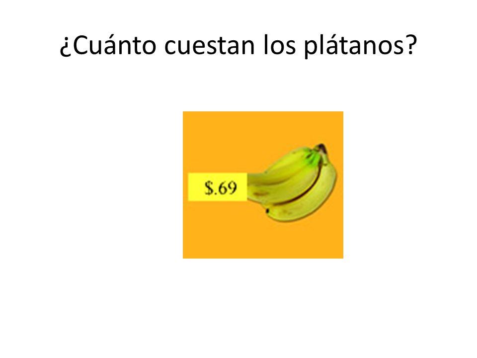 ¿Cuánto cuestan los plátanos