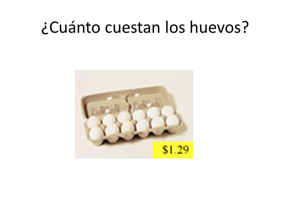 ¿Cuánto cuestan los huevos