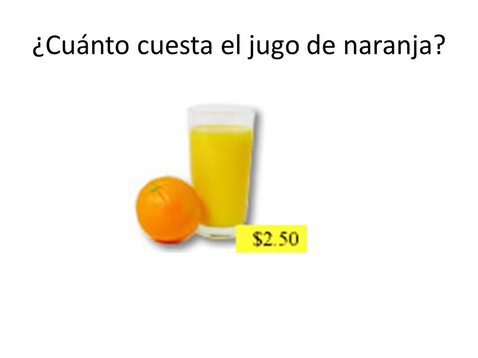 ¿Cuánto cuesta el jugo de naranja