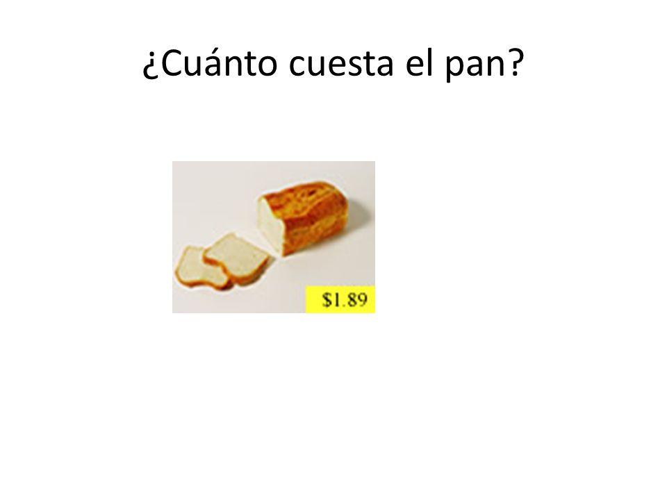 ¿Cuánto cuesta el pan