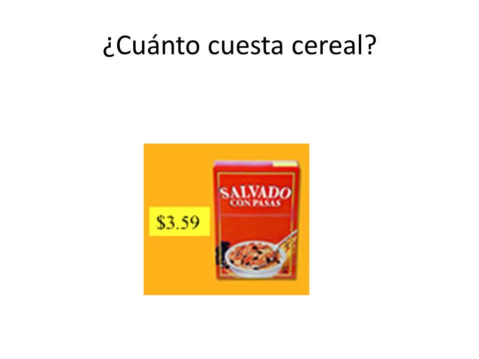 ¿Cuánto cuesta cereal