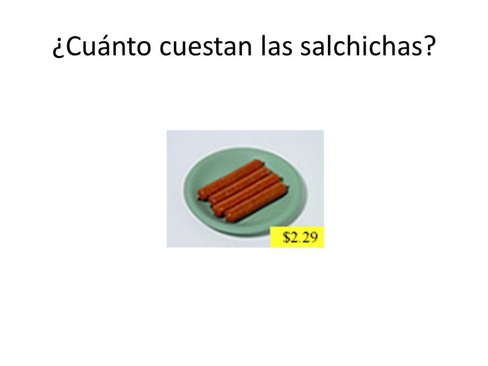 ¿Cuánto cuestan las salchichas