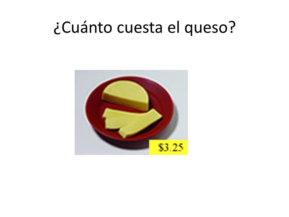 ¿Cuánto cuesta el queso