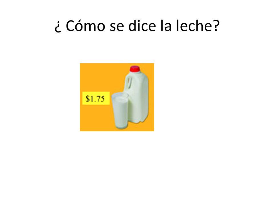 ¿ Cómo se dice la leche