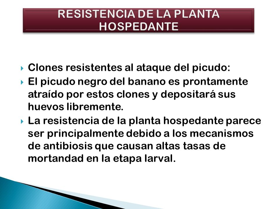 RESISTENCIA DE LA PLANTA HOSPEDANTE