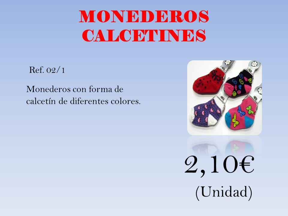 2,10€ MONEDEROS CALCETINES (Unidad)
