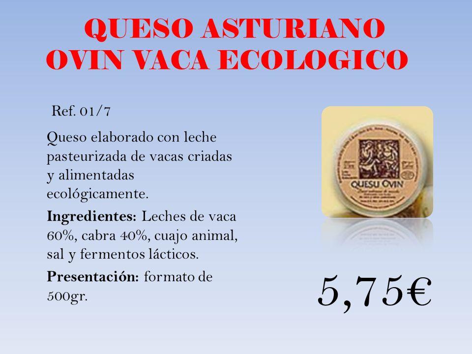 QUESO ASTURIANO OVIN VACA ECOLOGICO
