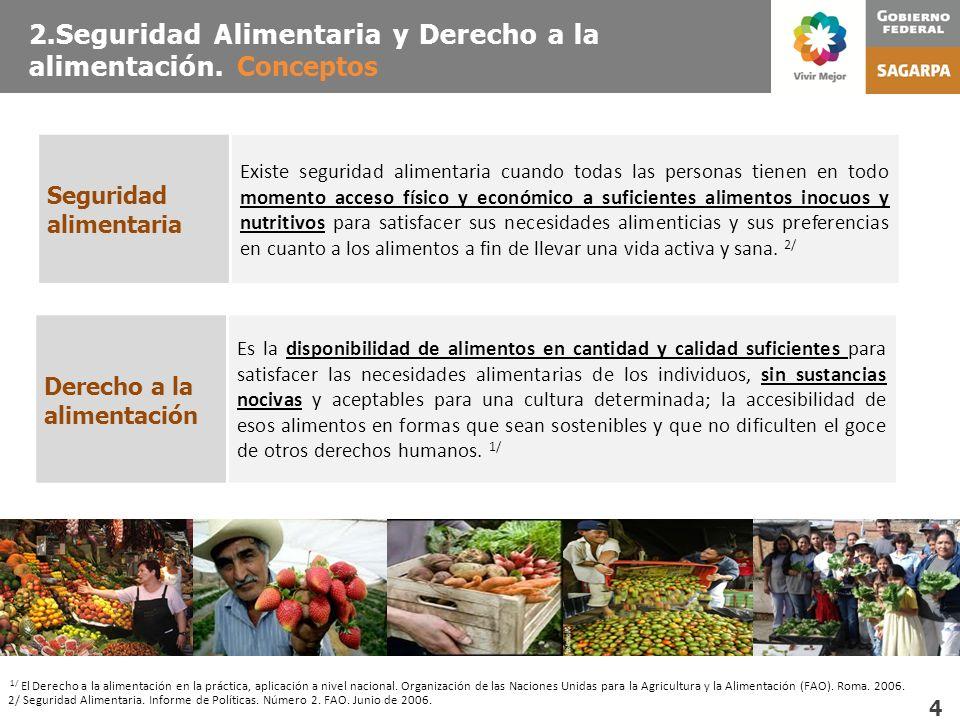 2.Seguridad Alimentaria y Derecho a la alimentación. Conceptos
