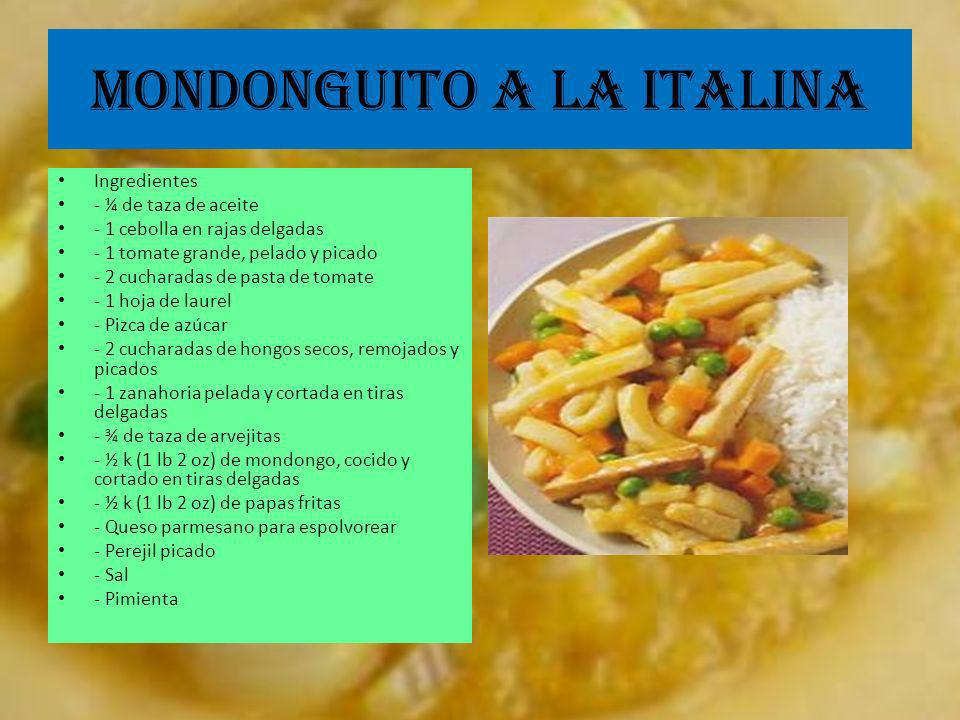 MONDONGUITO A LA ITALINA