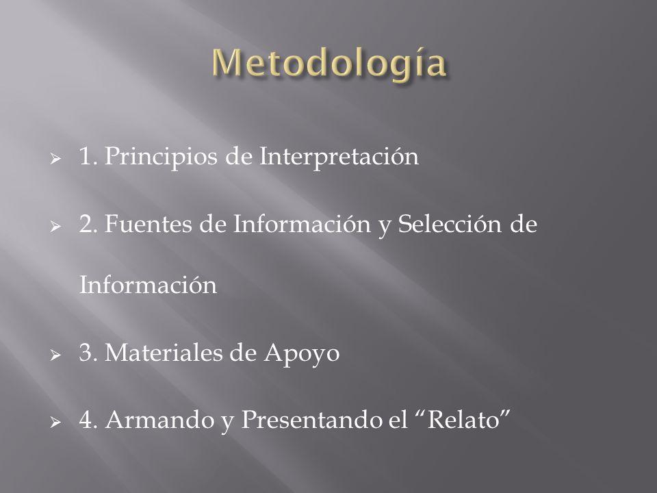 Metodología 1. Principios de Interpretación