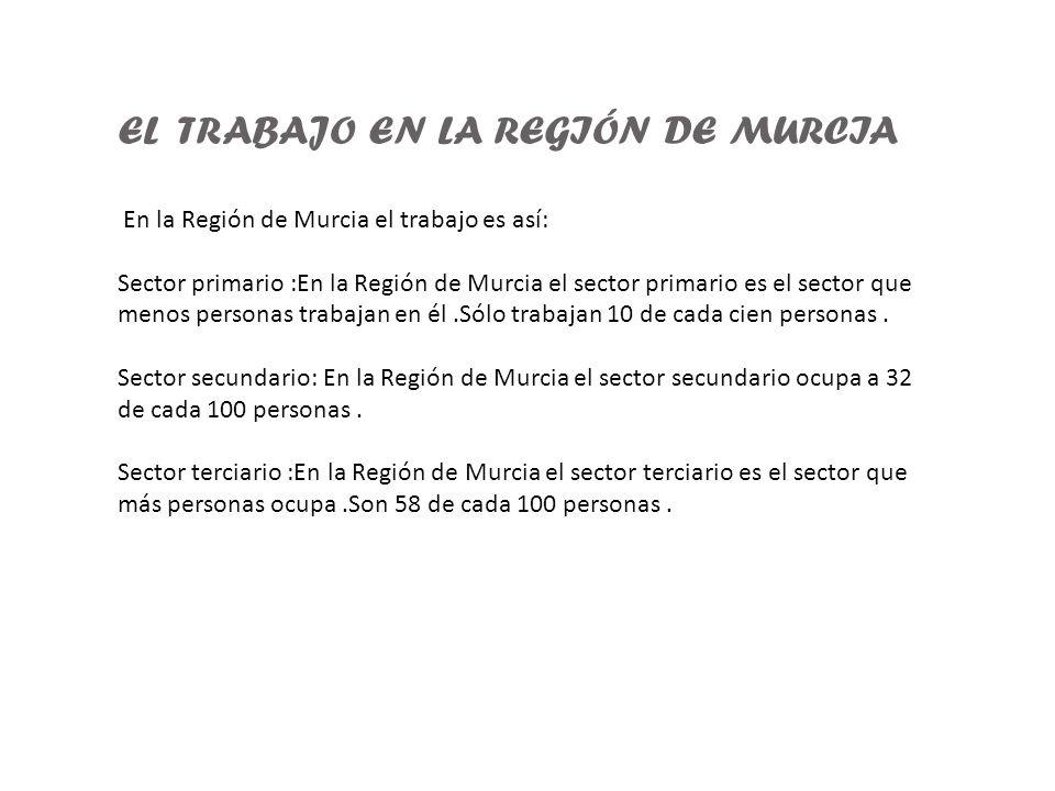 EL TRABAJO EN LA REGIÓN DE MURCIA