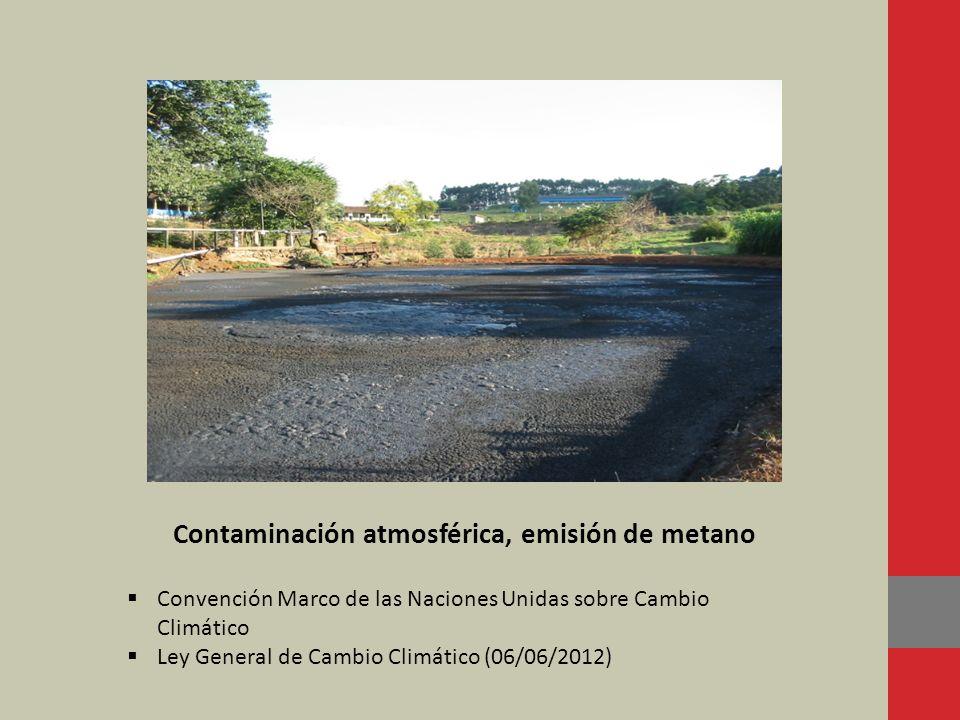 Contaminación atmosférica, emisión de metano