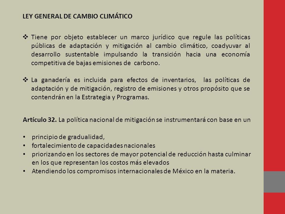 LEY GENERAL DE CAMBIO CLIMÁTICO