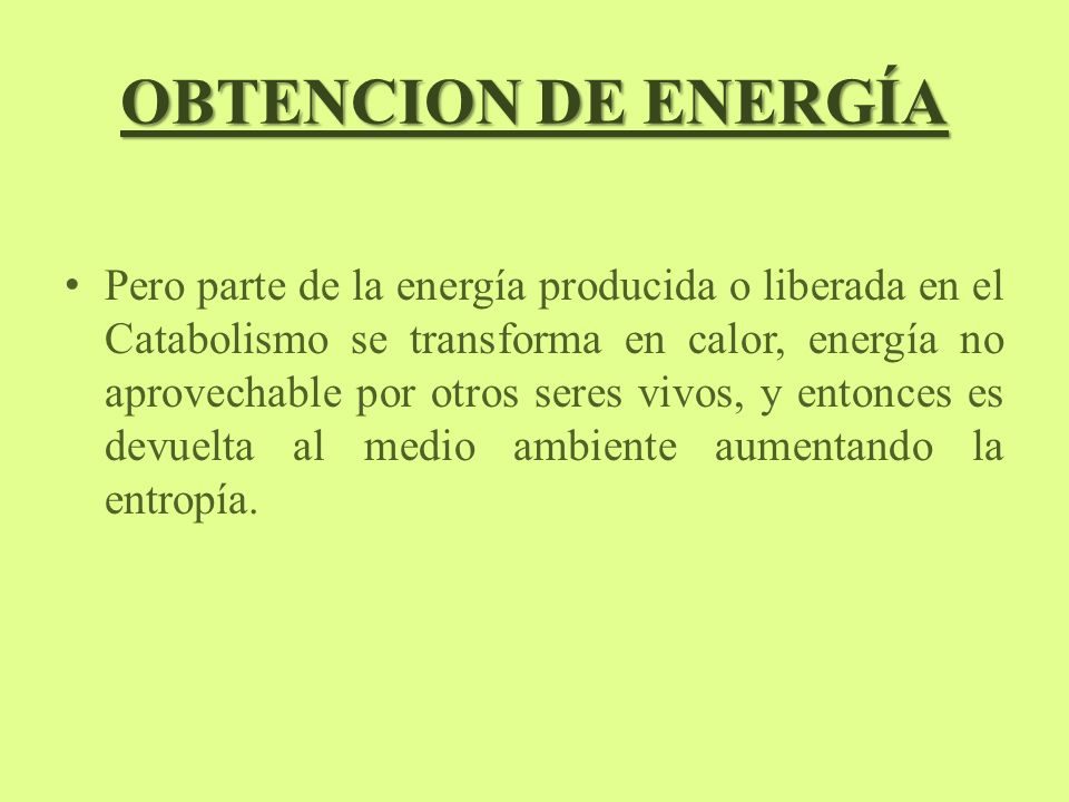 OBTENCION DE ENERGÍA