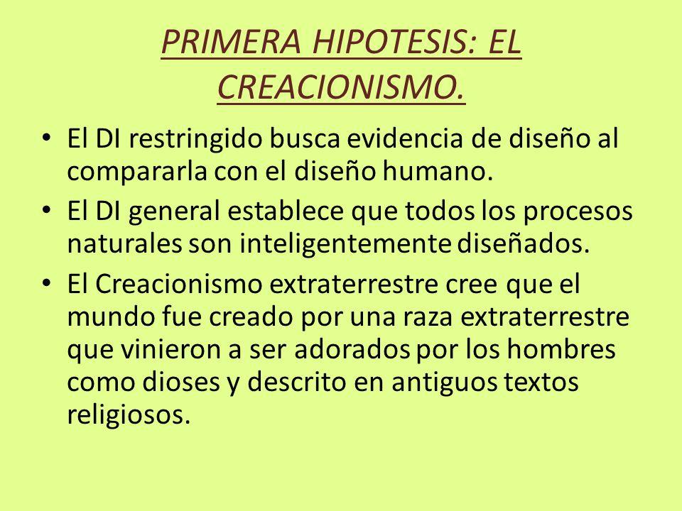 PRIMERA HIPOTESIS: EL CREACIONISMO.