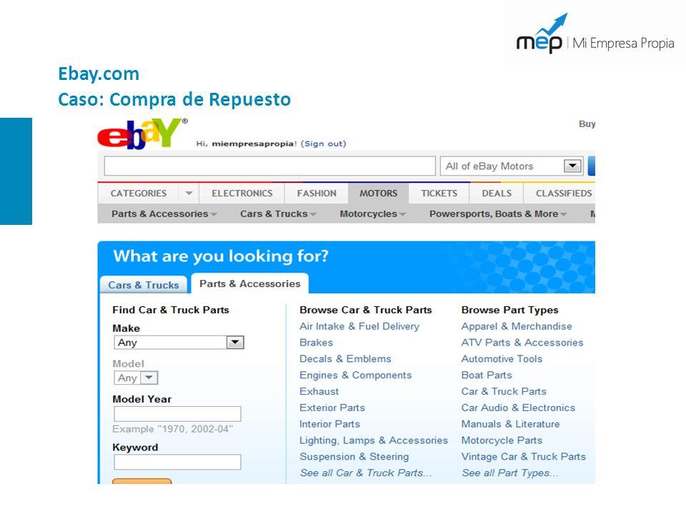 Ebay.com Caso: Compra de Repuesto