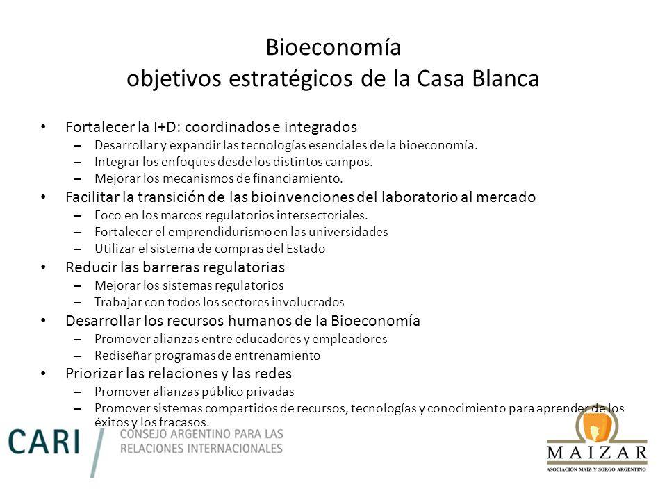 Bioeconomía objetivos estratégicos de la Casa Blanca